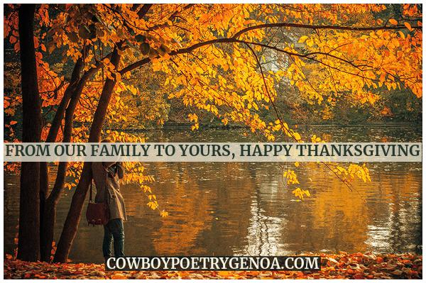 From our family to Yours, Happy Thanksgiving